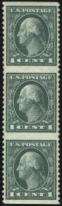 Sale Number 1096, Lot Number 743, 1917-19 Issues (Scott 498-524)1c Green, Vertical Pair, Imperforate Horizontally (498a), 1c Green, Vertical Pair, Imperforate Horizontally (498a)
