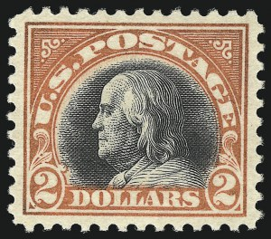 Sale Number 1096, Lot Number 757, 1917-19 Issues (Scott 498-524)$2.00 Orange Red & Black (523), $2.00 Orange Red & Black (523)