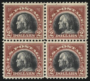 Sale Number 1096, Lot Number 782, 1918-22 Offset Printing, Rotary Issues (Scott 525-547)$2.00 Carmine & Black (547), $2.00 Carmine & Black (547)