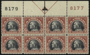 Sale Number 1096, Lot Number 783, 1918-22 Offset Printing, Rotary Issues (Scott 525-547)$2.00 Carmine & Black (547), $2.00 Carmine & Black (547)