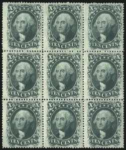 Sale Number 1096, Lot Number 79, 5c-10c 1857-60 Issue (Scott 27-35)10c Green, Ty. V (35), 10c Green, Ty. V (35)