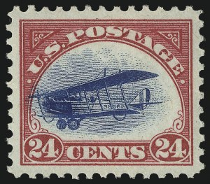 Sale Number 1096, Lot Number 816, Air Post with Inverted Jenny, Position 69 (Scott C1-C3a)24c Carmine Rose & Blue, 1918 Air Post (C3), 24c Carmine Rose & Blue, 1918 Air Post (C3)