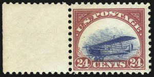 Sale Number 1096, Lot Number 817, Air Post with Inverted Jenny, Position 69 (Scott C1-C3a)24c Carmine Rose & Blue, 1918 Air Post (C3), 24c Carmine Rose & Blue, 1918 Air Post (C3)