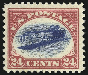 Sale Number 1096, Lot Number 818, Air Post with Inverted Jenny, Position 69 (Scott C1-C3a)24c Carmine Rose & Blue, Center Inverted (C3a), 24c Carmine Rose & Blue, Center Inverted (C3a)