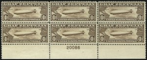 Sale Number 1096, Lot Number 824, Air Post, cont., Buffalo Balloon (Scott C4-C15, CL1)$1.30 Graf Zeppelin (C14), $1.30 Graf Zeppelin (C14)
