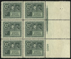 Sale Number 1096, Lot Number 834, Special Delivery (Scott E1-E10)10c Green, Special Delivery (E7), 10c Green, Special Delivery (E7)
