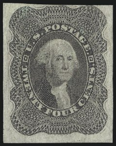 Sale Number 1096, Lot Number 87, 12c-90c 1857-60 Issue (Scott 36-39)24c Gray Lilac, Imperforate (37c), 24c Gray Lilac, Imperforate (37c)