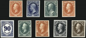 Sale Number 1096, Lot Number 894, Officials (Scott O1-O123)1c-90c Officials, Atlanta Trial Color Proofs on Card (O1TC5-O67TC5, O72TC5-O93TC5), 1c-90c Officials, Atlanta Trial Color Proofs on Card (O1TC5-O67TC5, O72TC5-O93TC5)