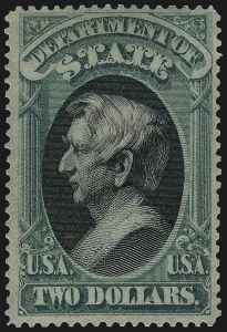 Sale Number 1096, Lot Number 896, Officials (Scott O1-O123)$2.00 State (O68), $2.00 State (O68)