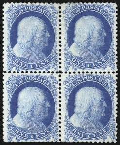 Sale Number 1096, Lot Number 96, 1875 Reprint of 1857-60 Issue (Scott 40-47)1c Bright Blue, Reprint (40), 1c Bright Blue, Reprint (40)