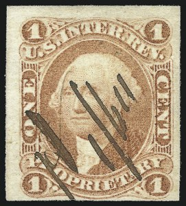 Sale Number 1096, Lot Number 962, First Issue Revenues (Scott R1-R102a)1c Proprietary, Imperforate (R3a), 1c Proprietary, Imperforate (R3a)