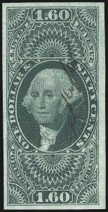 Sale Number 1096, Lot Number 966, First Issue Revenues (Scott R1-R102a)$1.60 Foreign Exchange, Imperforate (R79a), $1.60 Foreign Exchange, Imperforate (R79a)