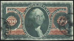 Sale Number 1096, Lot Number 973, First Issue Revenues (Scott R1-R102a)$200.00 U.S.I.R., Imperforate (R102a), $200.00 U.S.I.R., Imperforate (R102a)