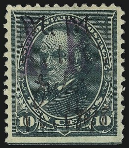 "Sale Number 1096, Lot Number 994, 1898 Spanish-American War, Documentary, Proprietary Revenue Issues10c Dark Green, ""I.R."" Overprint (R157), 10c Dark Green, ""I.R."" Overprint (R157)"