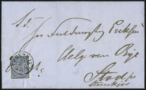 Sale Number 1097, Lot Number 131, Norway thru Nova ScotiaNORWAY, 1855, 4s Blue (1; Facit 1), NORWAY, 1855, 4s Blue (1; Facit 1)