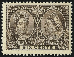 Sale Number 1098, Lot Number 277, Canada, Jubilee IssueCANADA, 1897, 6c Jubilee (55; SG 129), CANADA, 1897, 6c Jubilee (55; SG 129)