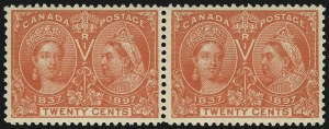Sale Number 1098, Lot Number 279, Canada, Jubilee IssueCANADA, 1897, 20c Jubilee (59), CANADA, 1897, 20c Jubilee (59)