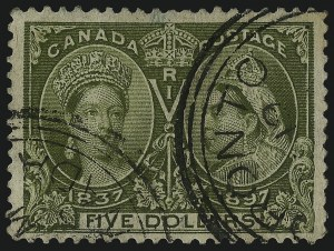 Sale Number 1098, Lot Number 280, Canada, Jubilee IssueCANADA, 1897, $1.00-$5.00 Jubilee (61-65), CANADA, 1897, $1.00-$5.00 Jubilee (61-65)