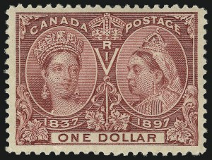 Sale Number 1098, Lot Number 281, Canada, Jubilee IssueCANADA, 1897, $1.00 Jubilee (61), CANADA, 1897, $1.00 Jubilee (61)
