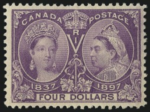 Sale Number 1098, Lot Number 282, Canada, Jubilee IssueCANADA, 1897, $4.00 Jubilee (64), CANADA, 1897, $4.00 Jubilee (64)