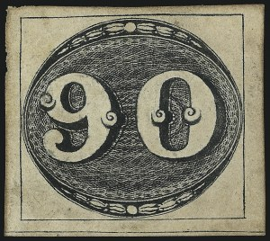 Sale Number 1098, Lot Number 586, Brazil, Specialized CollectionBRAZIL, 1843, 90r Black (3; RHM 3), BRAZIL, 1843, 90r Black (3; RHM 3)