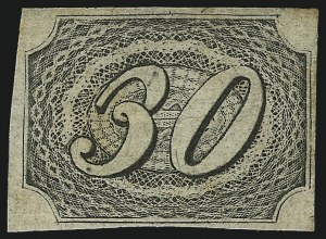 Sale Number 1098, Lot Number 587, Brazil, Specialized CollectionBRAZIL, 1844, 30r Black, Type I (8 var; RHM 5A), BRAZIL, 1844, 30r Black, Type I (8 var; RHM 5A)