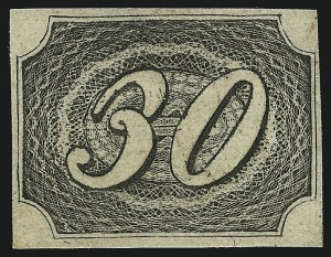 Sale Number 1098, Lot Number 588, Brazil, Specialized CollectionBRAZIL, 1844, 30r Black, Thick Paper (8 var; RHM 5B), BRAZIL, 1844, 30r Black, Thick Paper (8 var; RHM 5B)
