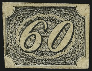 Sale Number 1098, Lot Number 590, Brazil, Specialized CollectionBRAZIL, 1844, 60r Black, Thick Paper, Type II (9 var; RHM 6C), BRAZIL, 1844, 60r Black, Thick Paper, Type II (9 var; RHM 6C)
