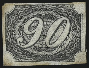 Sale Number 1098, Lot Number 591, Brazil, Specialized CollectionBRAZIL, 1844, 90r Black (10; RHM 7), BRAZIL, 1844, 90r Black (10; RHM 7)