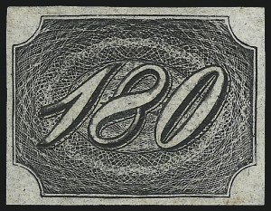 Sale Number 1098, Lot Number 596, Brazil, Specialized CollectionBRAZIL, 1845, 180r Black (11; RHM 8), BRAZIL, 1845, 180r Black (11; RHM 8)
