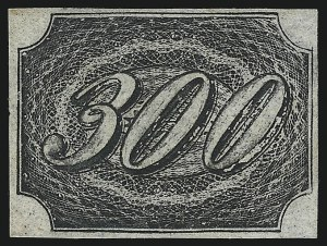 Sale Number 1098, Lot Number 597, Brazil, Specialized CollectionBRAZIL, 1845, 300r Black (12; RHM 9), BRAZIL, 1845, 300r Black (12; RHM 9)