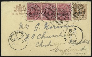 Sale Number 1098, Lot Number 614, ChinaCHINA, 1901 British Occupation During Boxer Rebellion, CHINA, 1901 British Occupation During Boxer Rebellion