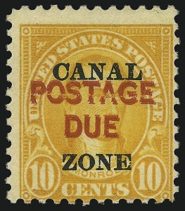 "Sale Number 1099, Lot Number 1194, Postage Due1925, 10c Orange, Postage Due, ""Postage Due"" Double (J17a), 1925, 10c Orange, Postage Due, ""Postage Due"" Double (J17a)"