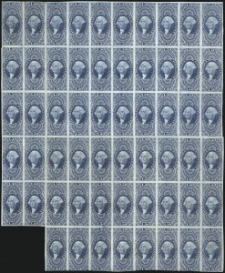 Sale Number 1100, Lot Number 154, Revenues (R1 thru R93c)$1.50 Inland Exchange, Imperforate (R78a), $1.50 Inland Exchange, Imperforate (R78a)