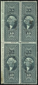 Sale Number 1100, Lot Number 161, Revenues (R1 thru R93c)$10.00 Charter Party, Perforated (R93c), $10.00 Charter Party, Perforated (R93c)