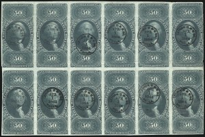 Sale Number 1100, Lot Number 171, Revenues (R95a thru RB6a)$50.00 U.S.I.R., Imperforate (R101a), $50.00 U.S.I.R., Imperforate (R101a)