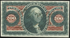 Sale Number 1100, Lot Number 172, Revenues (R95a thru RB6a)$200.00 U.S.I.R., Imperforate (R102a), $200.00 U.S.I.R., Imperforate (R102a)