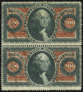 Sale Number 1100, Lot Number 173, Revenues (R95a thru RB6a)$200.00 U.S.I.R., Perforated (R102c), $200.00 U.S.I.R., Perforated (R102c)