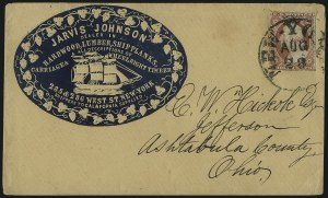 Sale Number 1100, Lot Number 200, Postal History: Stamped Covers3c Dull Red, Ty. II (11A), 3c Dull Red, Ty. II (11A)