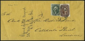 Sale Number 1100, Lot Number 203, Postal History: Stamped Covers5c Red Brown (12), 5c Red Brown (12)