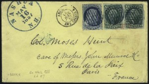 Sale Number 1100, Lot Number 204, Postal History: Stamped Covers10c Green, Ty. IV-III (16-15), 10c Green, Ty. IV-III (16-15)