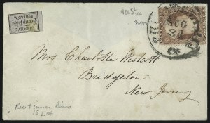 Sale Number 1100, Lot Number 205, Postal History: Stamped Covers3c Rose, Ty. I, II (25, 25A), 3c Rose, Ty. I, II (25, 25A)