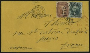 Sale Number 1100, Lot Number 207, Postal History: Stamped Covers5c Brick Red (27), 5c Brick Red (27)