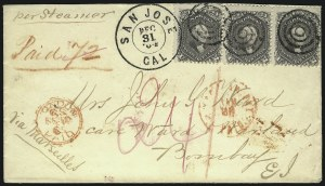 Sale Number 1100, Lot Number 220, Postal History: Stamped Covers24c Lilac (78), 24c Lilac (78)