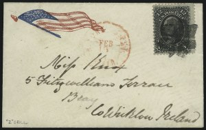 Sale Number 1100, Lot Number 222, Postal History: Stamped Covers12c Black, Z. Grill (85E), 12c Black, Z. Grill (85E)