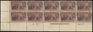 Sale Number 1100, Lot Number 47, 1893 Columbian Issue (Scott 230-241)8c Columbian (236), 8c Columbian (236)