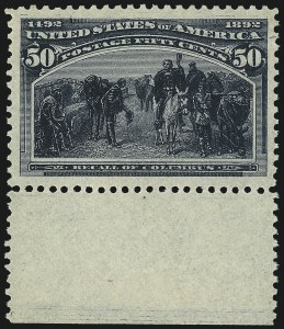 Sale Number 1100, Lot Number 52, 1893 Columbian Issue (Scott 230-241)50c Columbian (240), 50c Columbian (240)