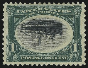 Sale Number 1100, Lot Number 76, 1901 Pan-American Issue (Scott 294-299)1c Pan-American, Center Inverted (294a), 1c Pan-American, Center Inverted (294a)