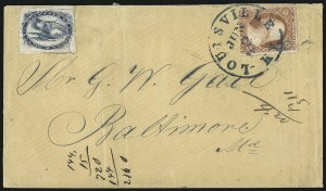 Sale Number 1101, Lot Number 552, Carrier Departments: LouisvilleBrown & McGill's U.S.P.O. Despatch, Louisville Ky., (2c) Blue (5LB2), Brown & McGill's U.S.P.O. Despatch, Louisville Ky., (2c) Blue (5LB2)