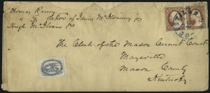 Sale Number 1101, Lot Number 553, Carrier Departments: LouisvilleBrown & McGill's U.S.P.O. Despatch, Louisville Ky., (2c) Blue (5LB2), Brown & McGill's U.S.P.O. Despatch, Louisville Ky., (2c) Blue (5LB2)